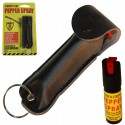 Black Cheetah Pepper Spray w/ Key Ring